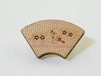 木製帯留め うちわの画像