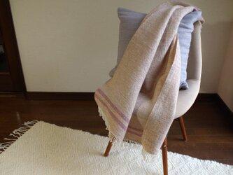 手織りミニブランケット 中厚手 の画像