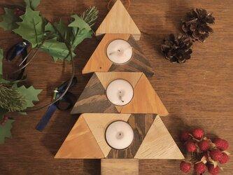クリスマス ツリー型 キャンドルホルダー  【3WAY】置き型、立てかけ、壁掛けの画像