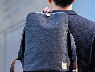 【岡山デニム】メンズ「薄マチ リュック」Dom-004の画像