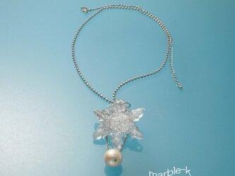 雪の結晶のネックレス&ブローチの画像