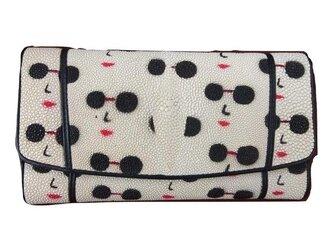 ガルーシャ(エイ革)レディース・メンズ財布 ポップ調デザインの画像