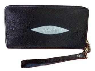 ガルーシャ(エイ革)レディース・メンズ財布 ラウンドファスナーの画像
