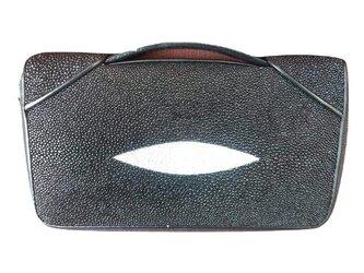 ガルーシャ(エイ革)レディース・メンズ財布 持ち手付2ラウンドファスナー 2WAYの画像
