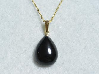 ブラックオニキスのネックレスの画像