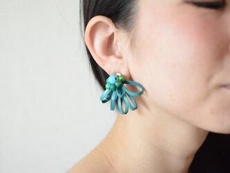 """【レザーピアス/イヤリング】 Sucre""""turquoise""""の画像"""