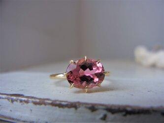 限定K18YG ピンクトルマリンのリングの画像