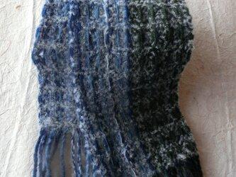 ワッフル織り ミニマフラーの画像