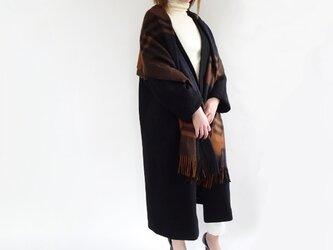縮絨上品Vカラー総裏ロングコート〈ブラック〉の画像
