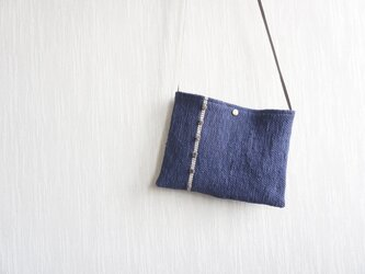 【受注制作】裂き織りのちょっとそこまでサコッシュバッグの画像