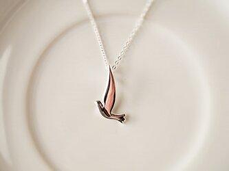 送料無料 silver925 鳥チャームのペンダントの画像