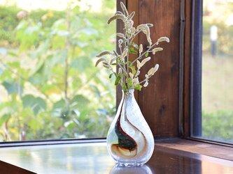 ぷつぷつ泡花瓶(マーブルカラー入)の画像