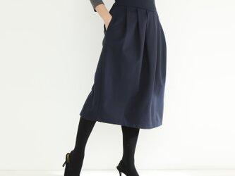 ストレッチ スカート 紺色 ☆オーダーメイド可の画像