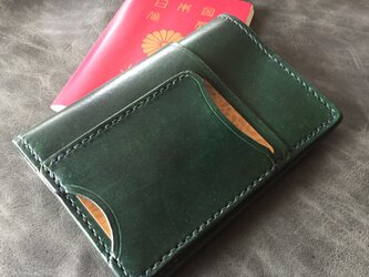 【ディープグリーン】パスポートケース PPC-01dgn Passport Case ヌメ革生成りの画像
