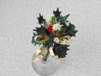クリスマスのヒイラギ * レザー製 ほか * コサージュの画像