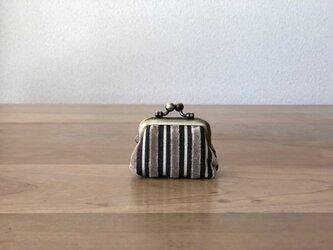 ちびちびがまぐち セピアベルベット&グレーの画像