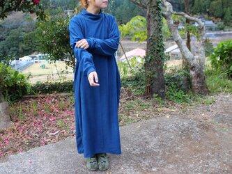 草木を纏う、完熟ワンピース❝群青色❞の画像