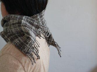 紡ぎマフラー(ホームスパン)の画像