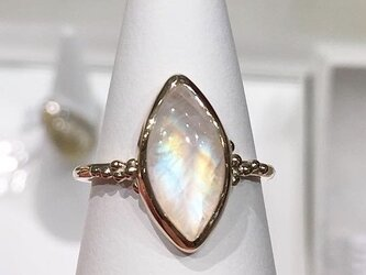 K10YG Rainbow moonstone ringの画像