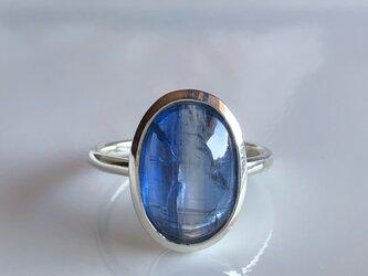 バイカラーカイヤナイト リング/silver925の画像