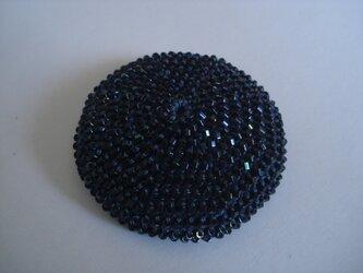 Hair tie (L) --Metallic Navy--の画像