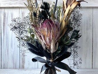 星月猫★「プロテアシャロンのブラックスワッグ」ドライフラワー 花束の画像