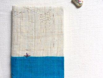 染色とししゅう 文庫本 ブックカバー 「西からの風」の画像