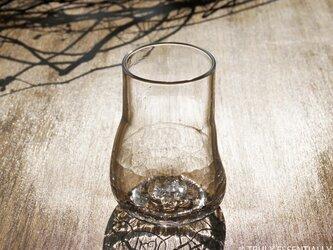 【 SOLD OUT 】無色透明のグラス - 「KAZEの肌」#352 ● 高さ12cmの画像