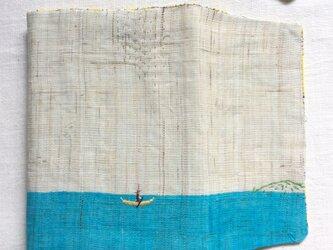 染色とししゅう 文庫本 ブックカバー  「また、旅へ」の画像