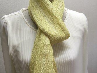 草木染め 手織りシルクストール ST01の画像
