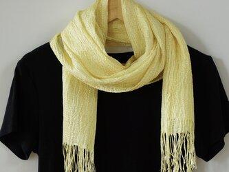 草木染め・手織りシルクストール ST01の画像