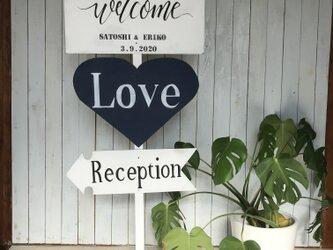 wedding sign ⑦ ウェディングサイン 【名前と日付オーダー可】の画像