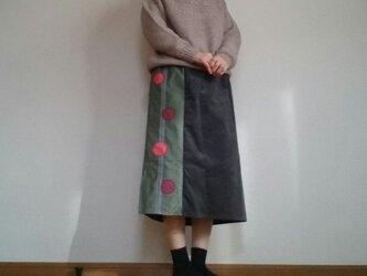 コーデュロイグレースカートあめ玉ウエストゴムの画像