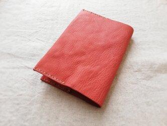 ブックカバー オイルシュリンクレザー くすみレッドの画像