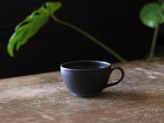 たっぷり入るスープカップ 黒の画像
