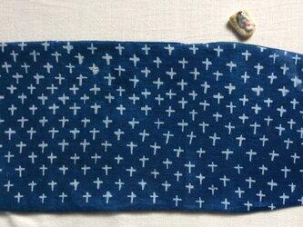 藍染 ブックカバー「十字紋」の画像
