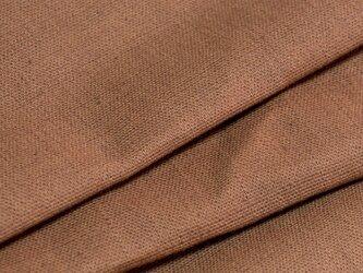 【オリジナル・108×100cm】カットクロス 生地 柿渋染め B色 [日本製] 綿スラブ織キャンバス VY5KS-1-Bの画像