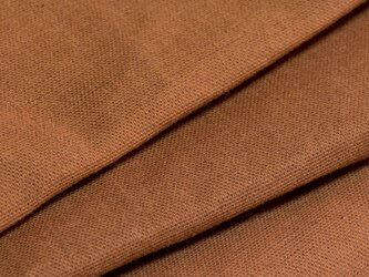 【オリジナル・108×100cm】カットクロス 生地 柿渋染め C色 [日本製] 綿スラブ織キャンバス VY5KS-1-Cの画像