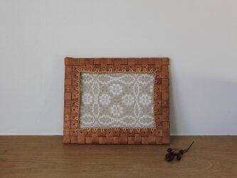 白樺のテキスタイルフレーム Lサイズの画像