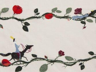 ドイツ オーガニックコットンカットクロス-ボイル 眠り姫 ペールピンクの画像