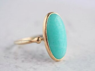 Amazonite ring [OP729K10YG]の画像
