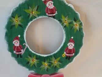 シック&キュート 両面楽しいクリスマスのリボンリースの画像