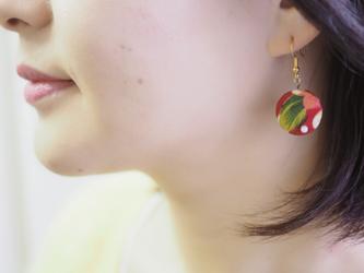 ★台湾花布★小さくて可愛い華やかなピアス/イヤリングの画像