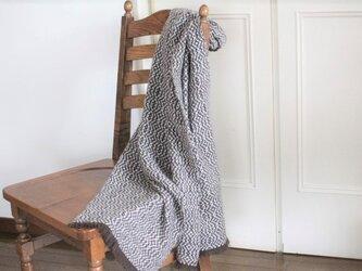 ヤクとカシミヤ <冬の柊>手織りストールの画像