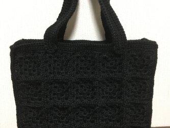 手編みバックの画像