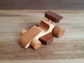 木のおもちゃ F1カーの画像