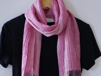 草木染め 手織りシルクストール ST04の画像