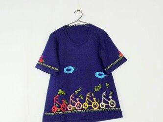 昭和レトロ 機会編み 子供用チェニックの画像