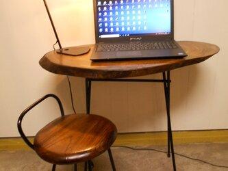 けやきアイアンテーブルイスセット12-14の画像