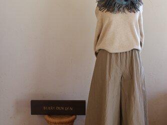 コットンナイロン「濃いめのベージュ」 85cm丈の画像